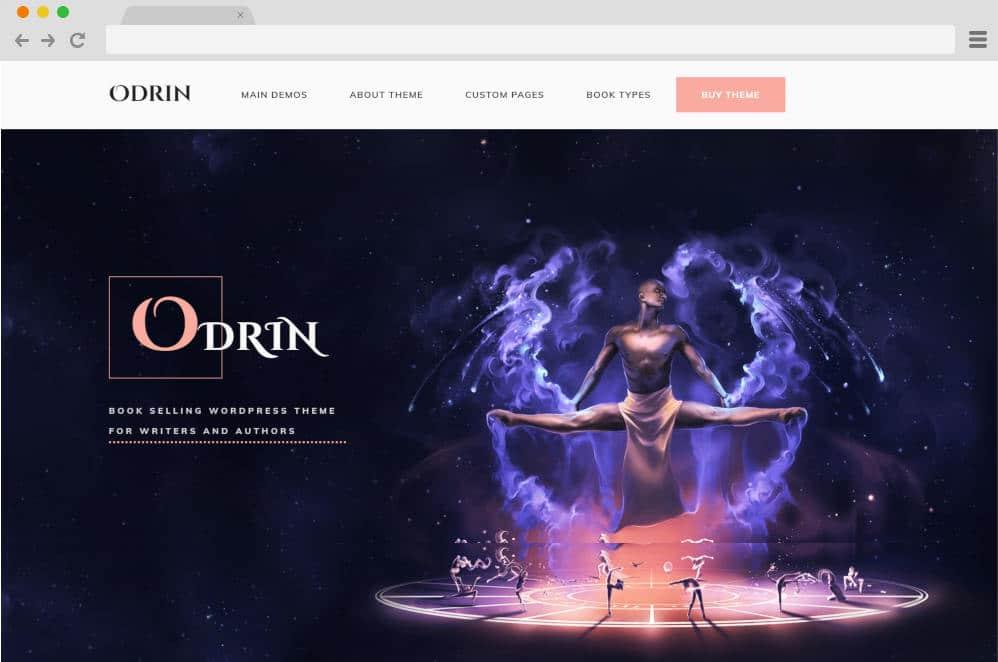 odrin author website templates