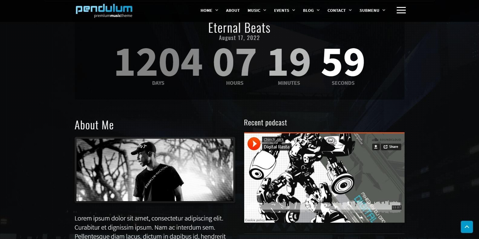 pendulum-dj-website-template