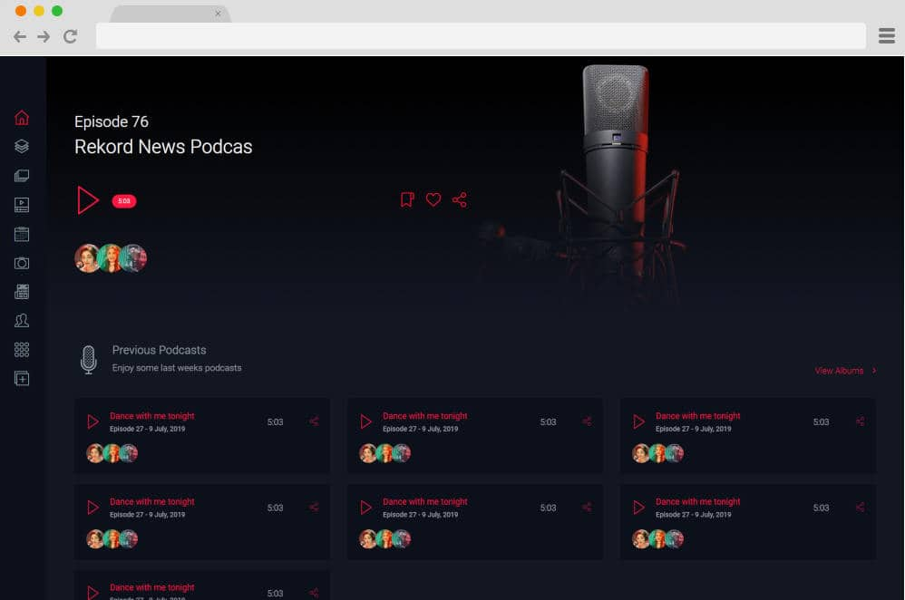 rekord master podcast website templates
