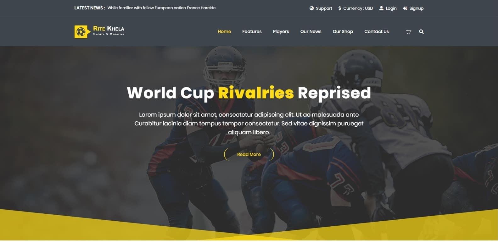 ritekhela-sports-website-template