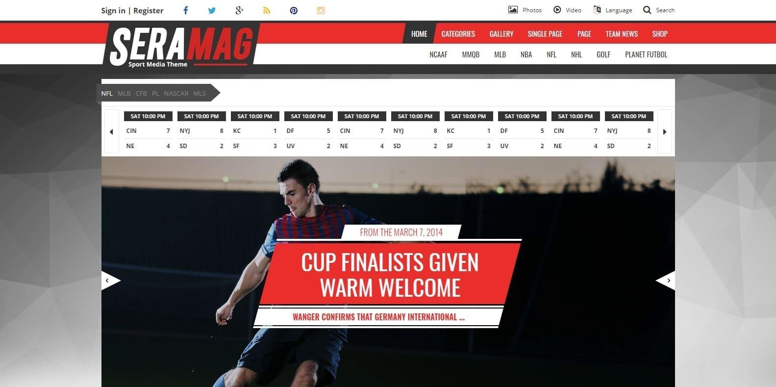 seramag-sports-website-template