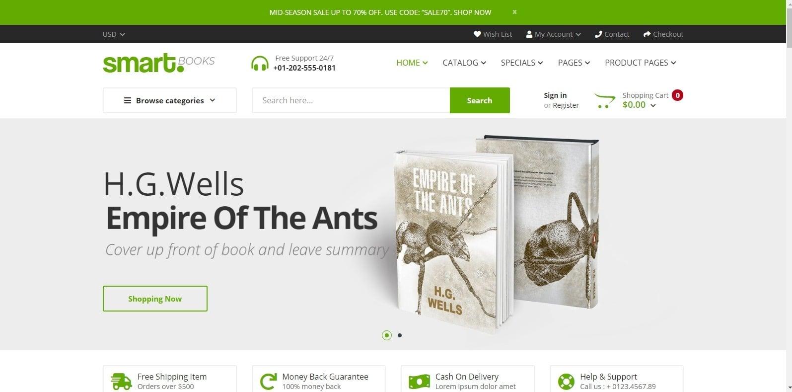smartbooks-html-bookstore-website-template