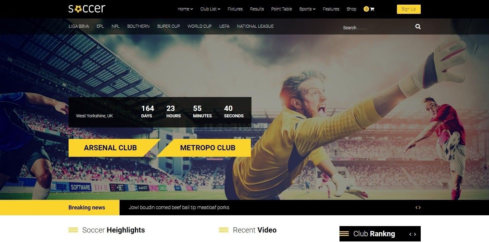 soccer-sports-website-template