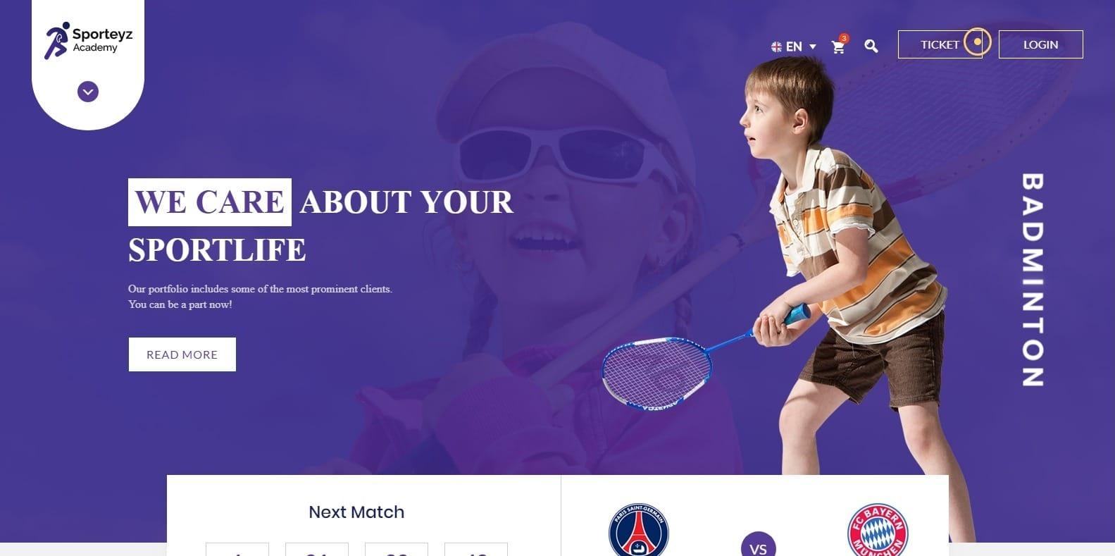 sporteyz-sports-website-template