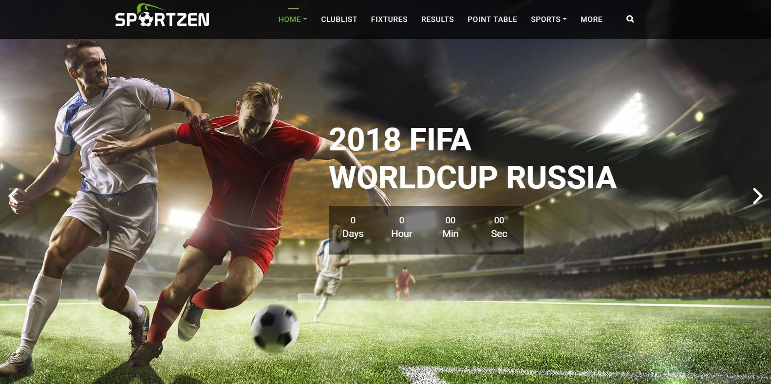 sportzen-sports-website-template