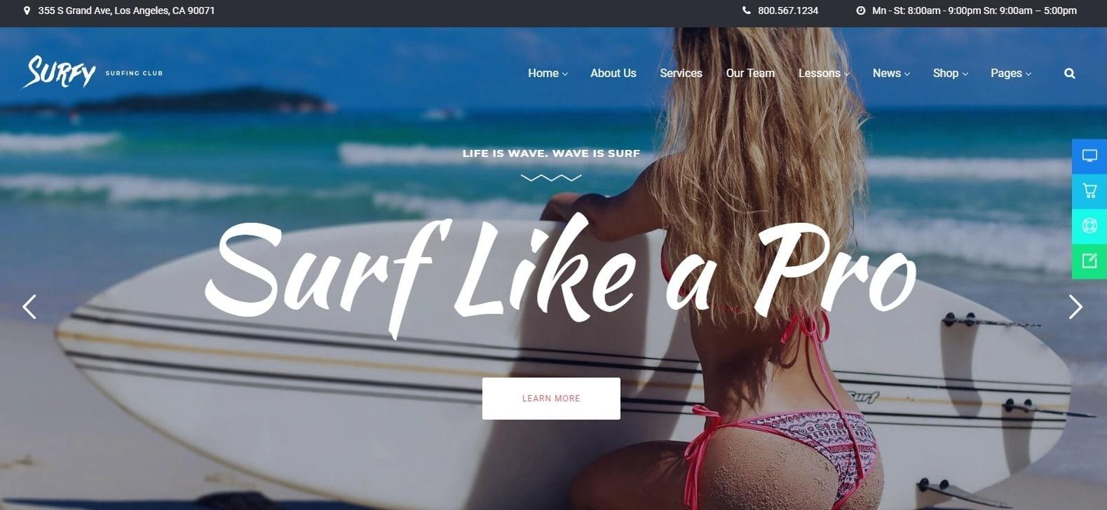 surfy-sports-website-template