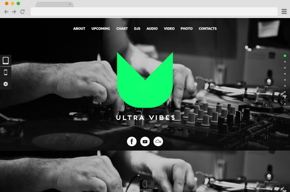 ultra vibes podcast website templates