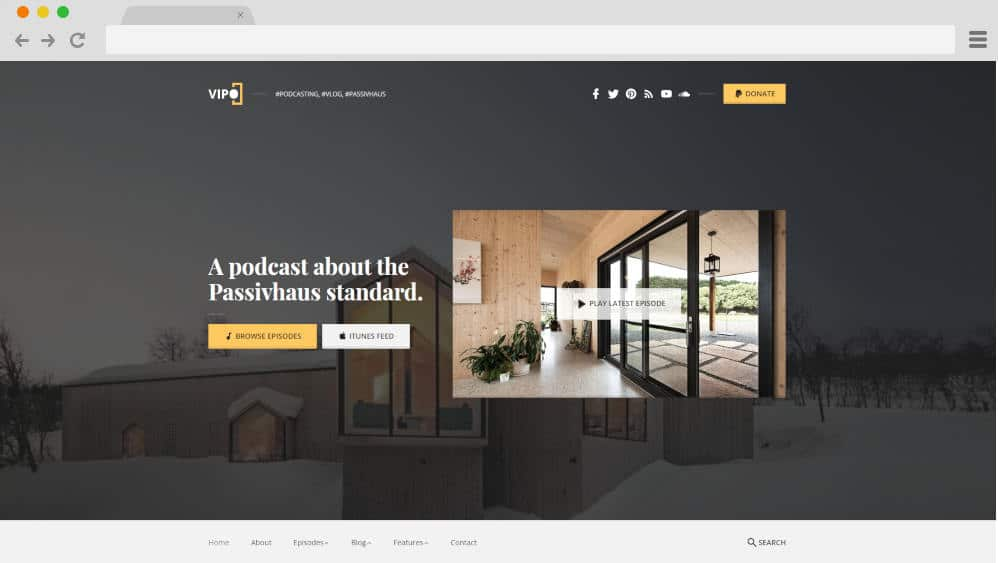 vipo podcast website templates