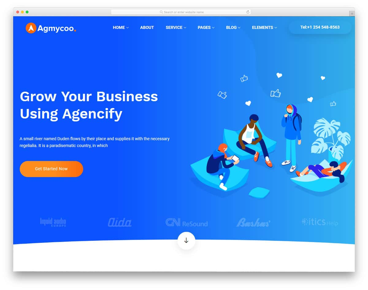 digital agency wordpress themes with trendy design