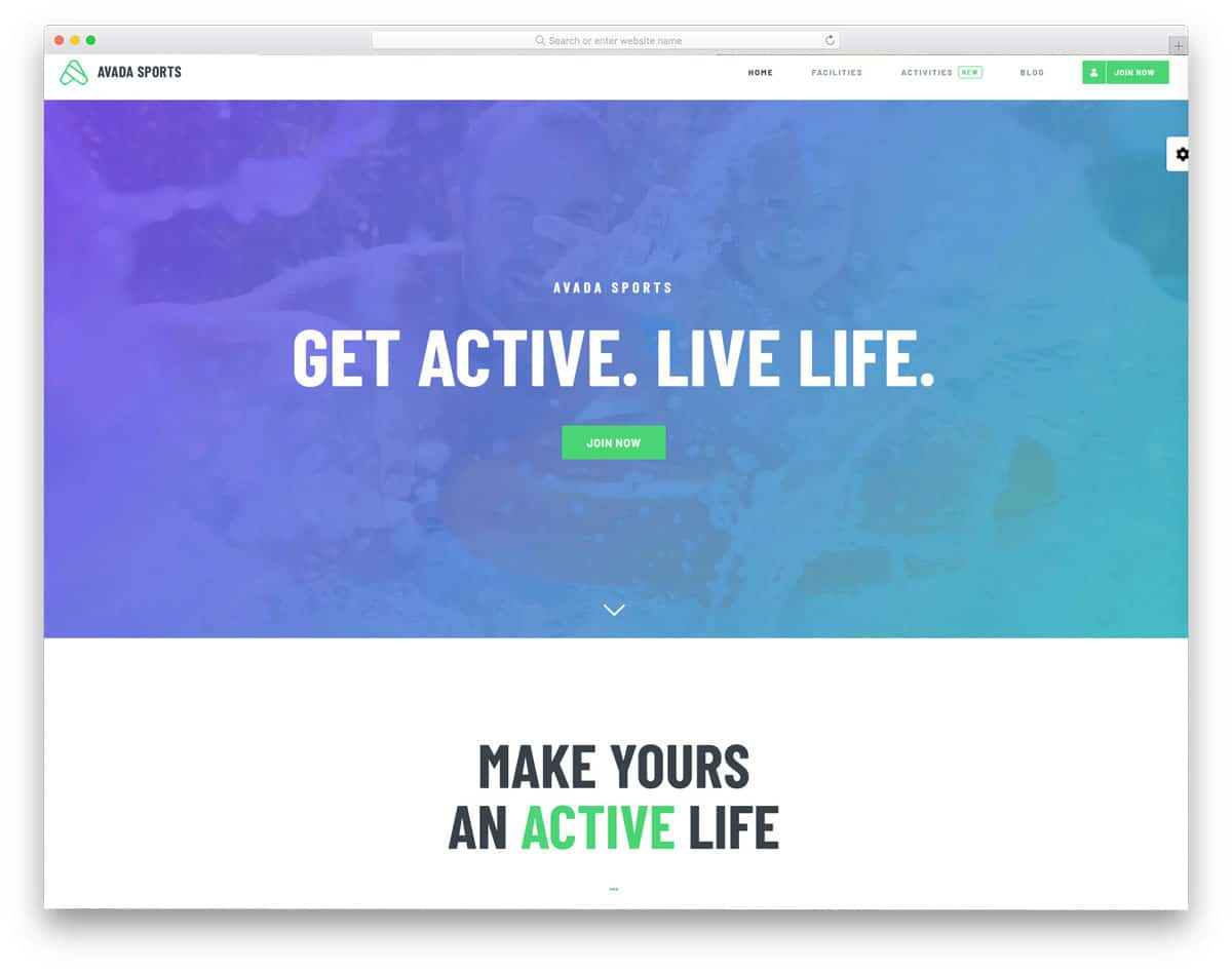 easy to edit multi-purpose sports website theme