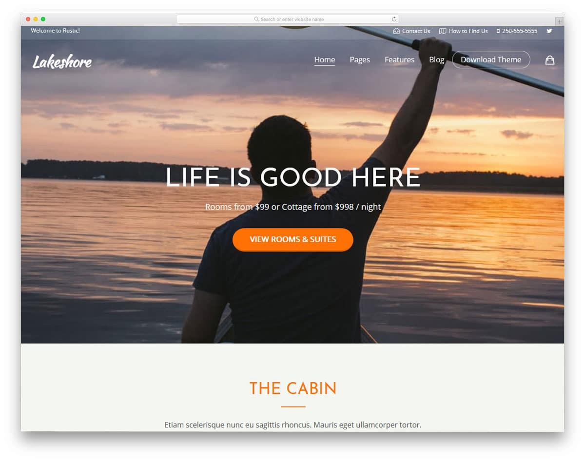 wordpress theme to feel the luxury features offered