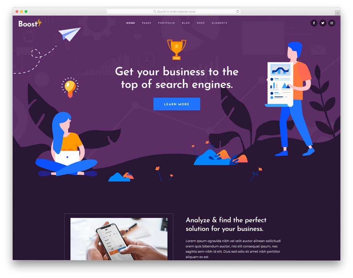interactive seo agency wordpress themes