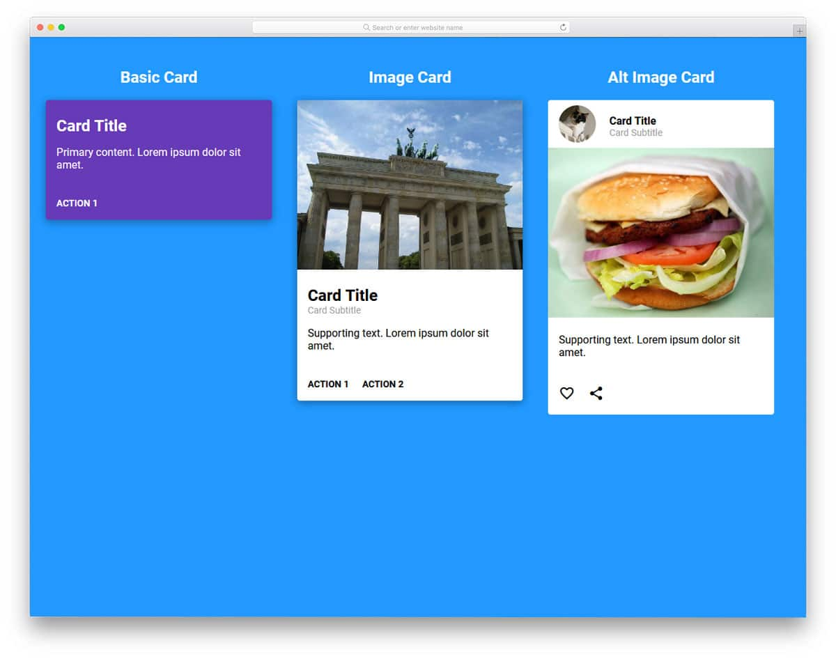 25 Bootstrap Cards Examples For Natural And Fluid User Experience 2019