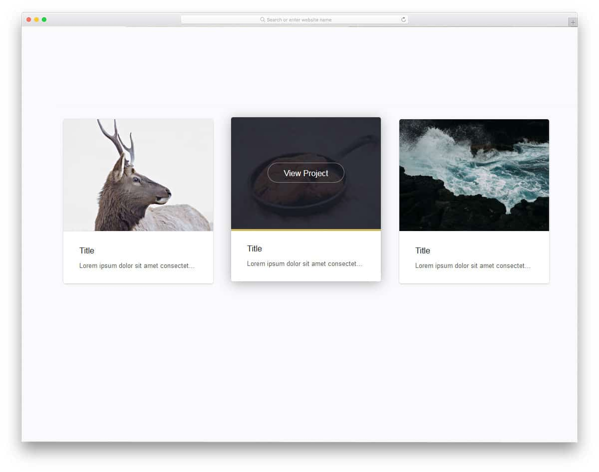 minimal looking bootstrap cards