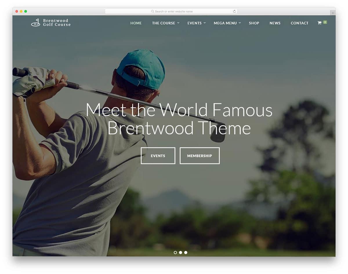 rich and posh looking wordpress golf themes