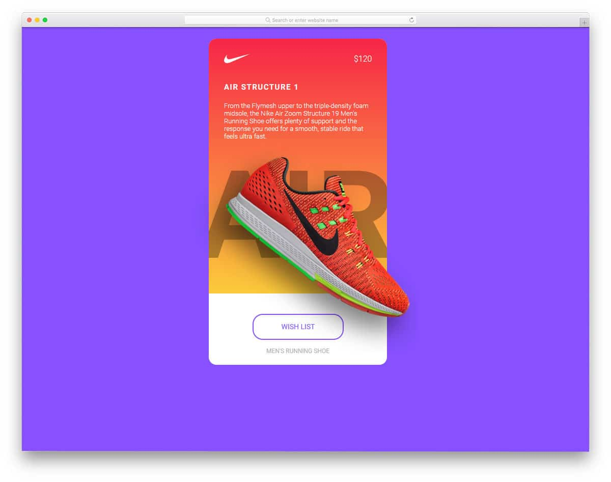 card slider with parallax transition effect