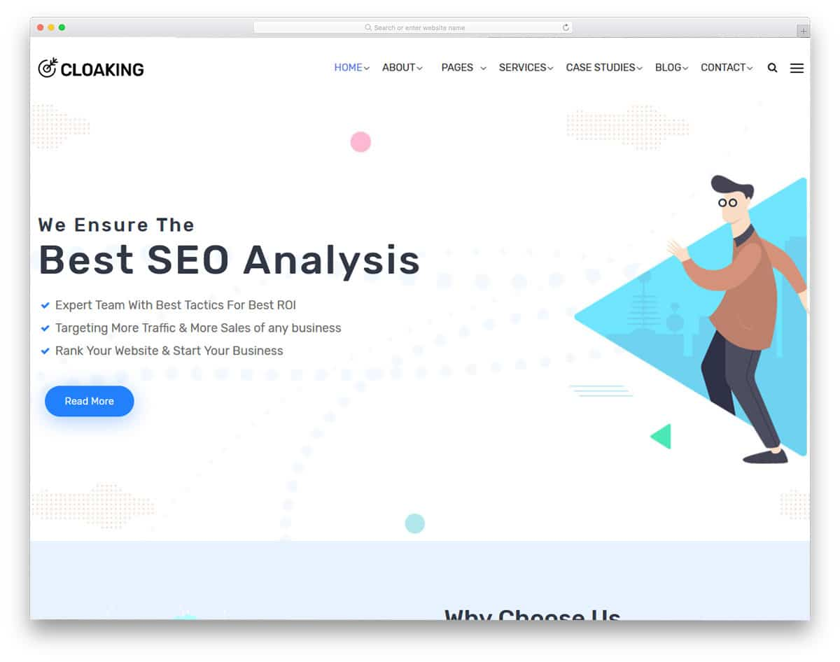 clean content focused SEO agency wordpress themes