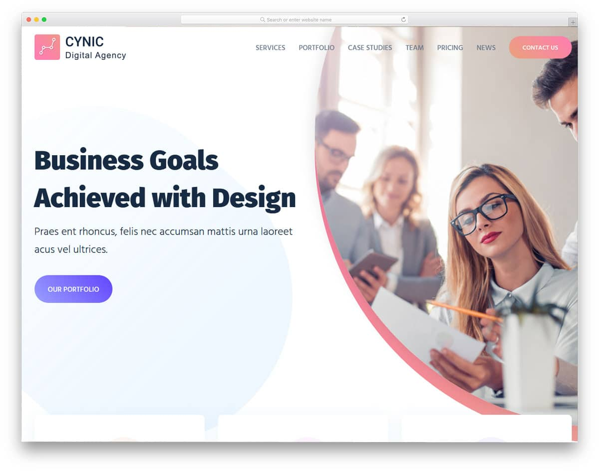 modern digital agency wordpress themes with lively web elments