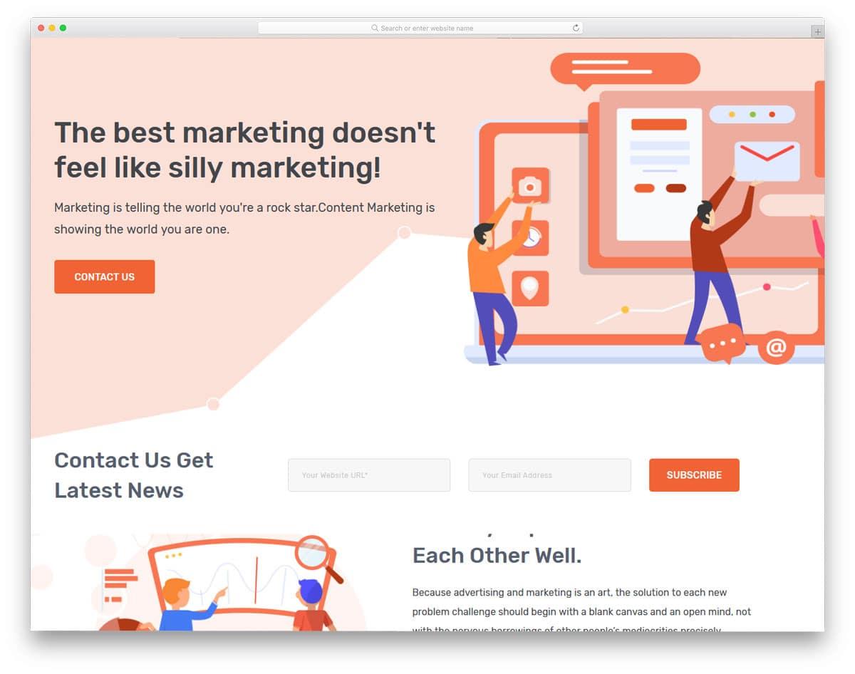 proper seo agency wordpress themes for storytelling