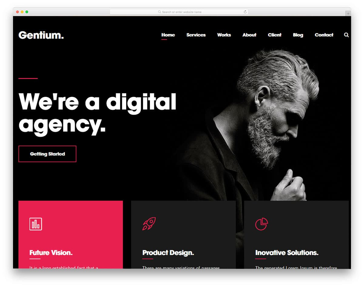 rich and stylish looking digital agency wordpress themes