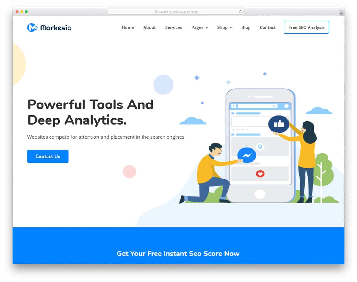 wordpress theme for seo tools