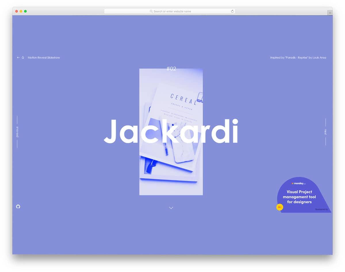 content focused carousel design