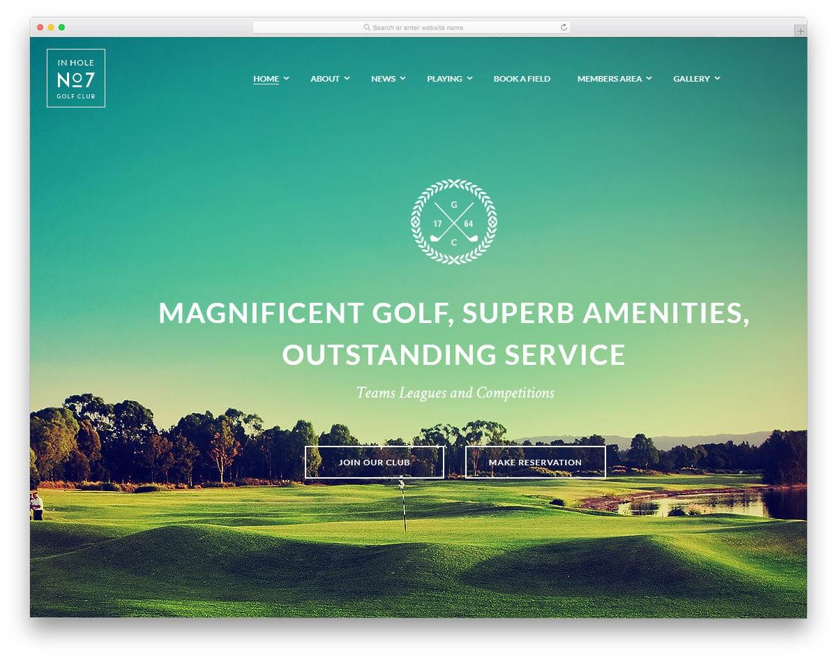 interactive and fashionable wordpress golf themes