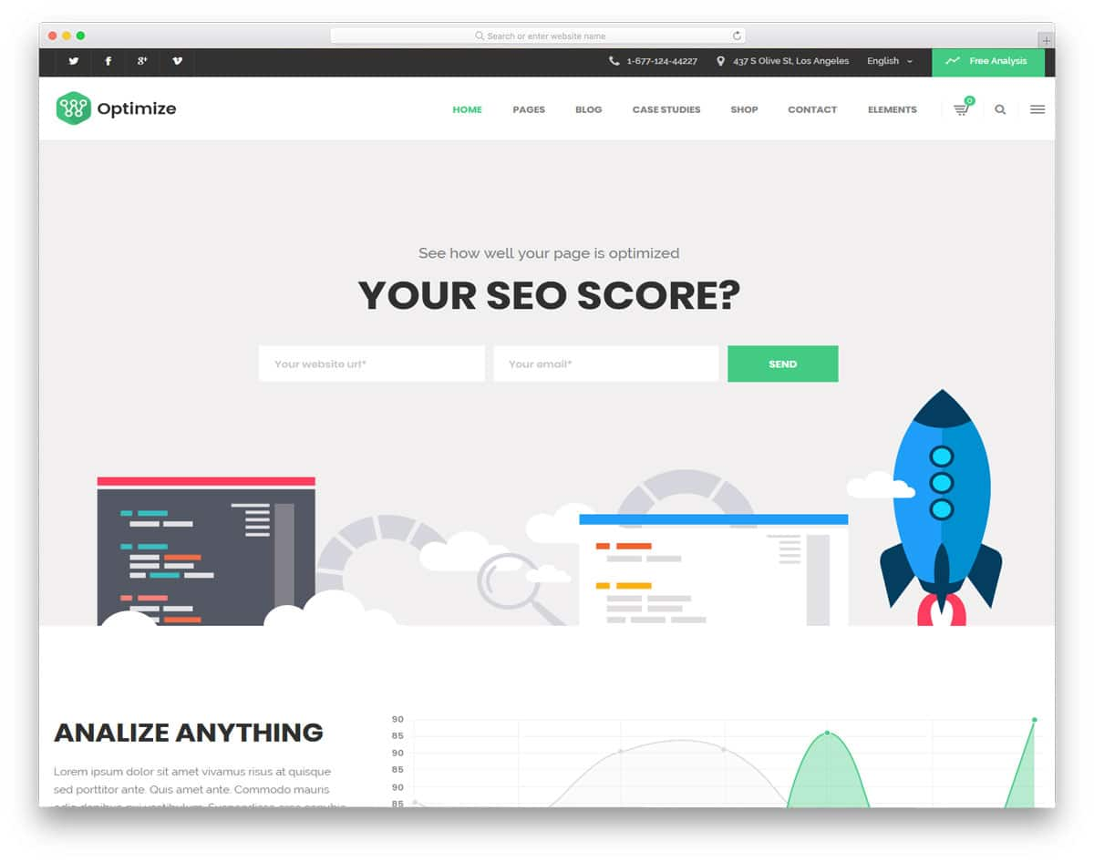 wordpress theme for all types of seo services