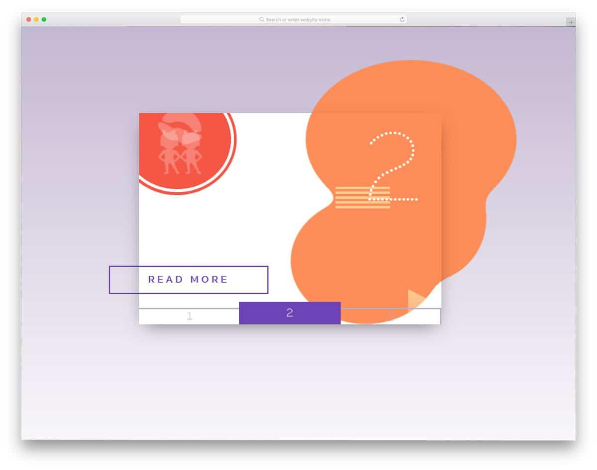 card design for modern content sliders