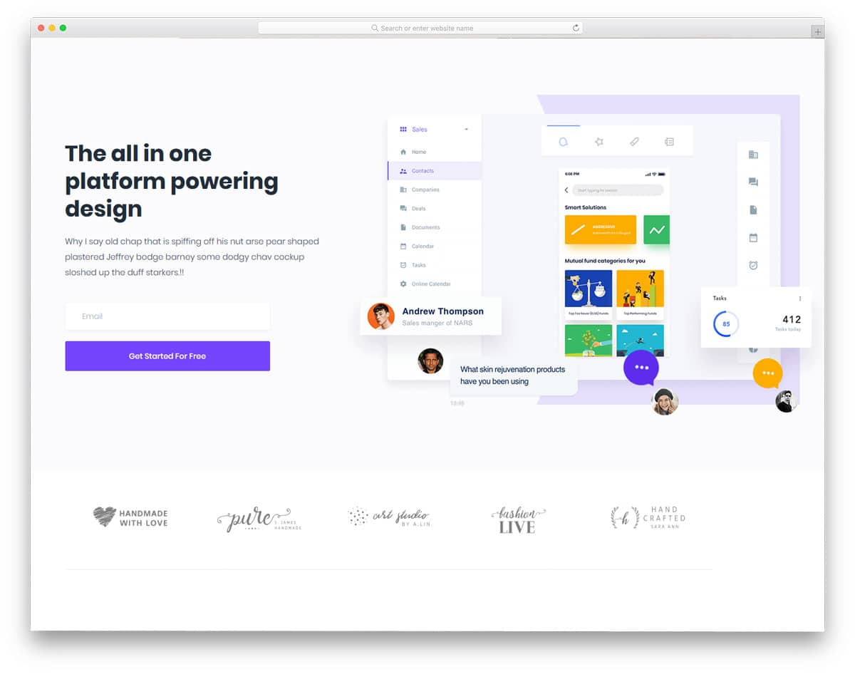mulitpurpose theme for digital agency and SAAS companies