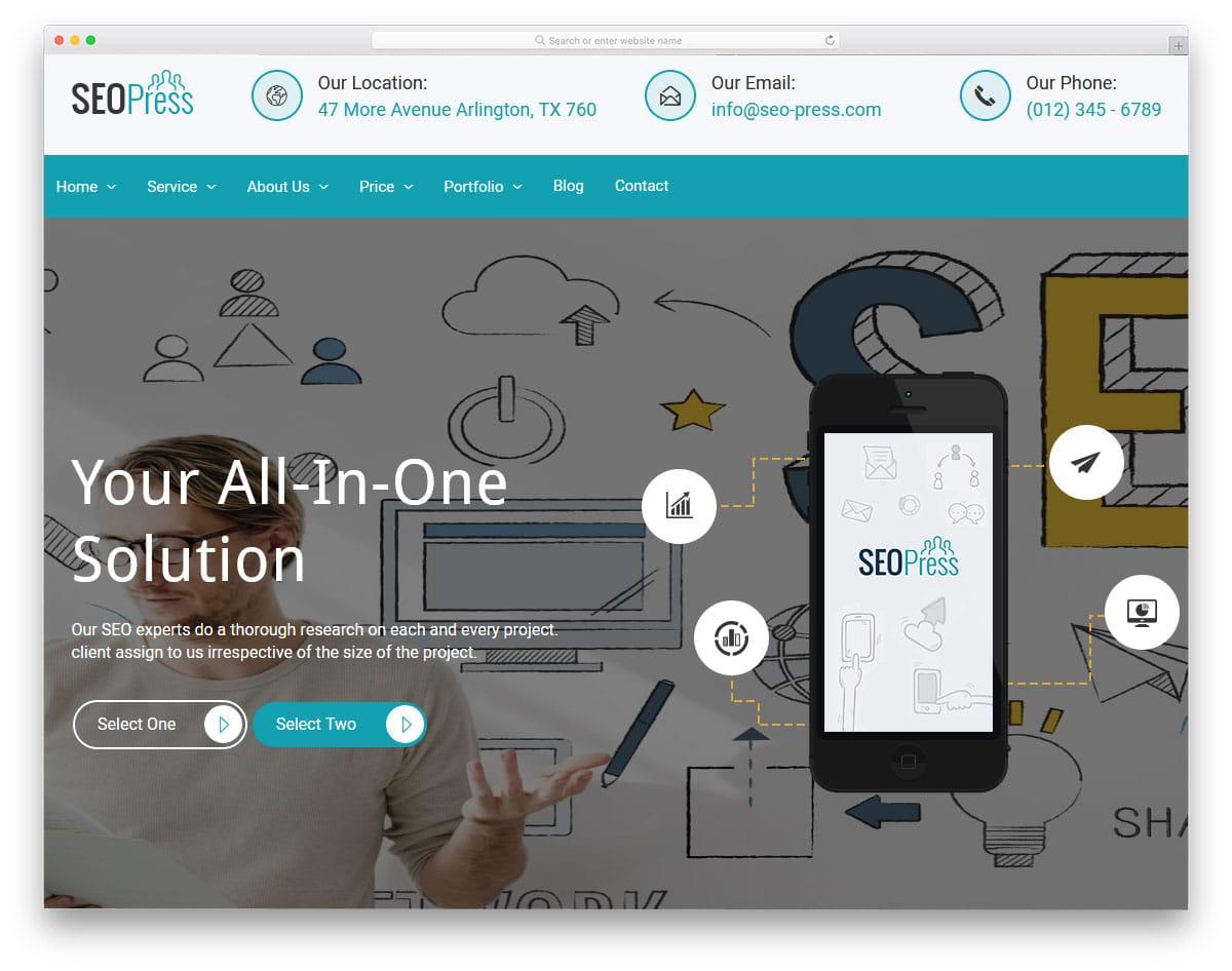 wordpress theme for startups