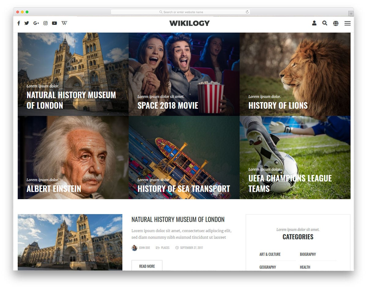 wordpress wiki themes for image rich sites