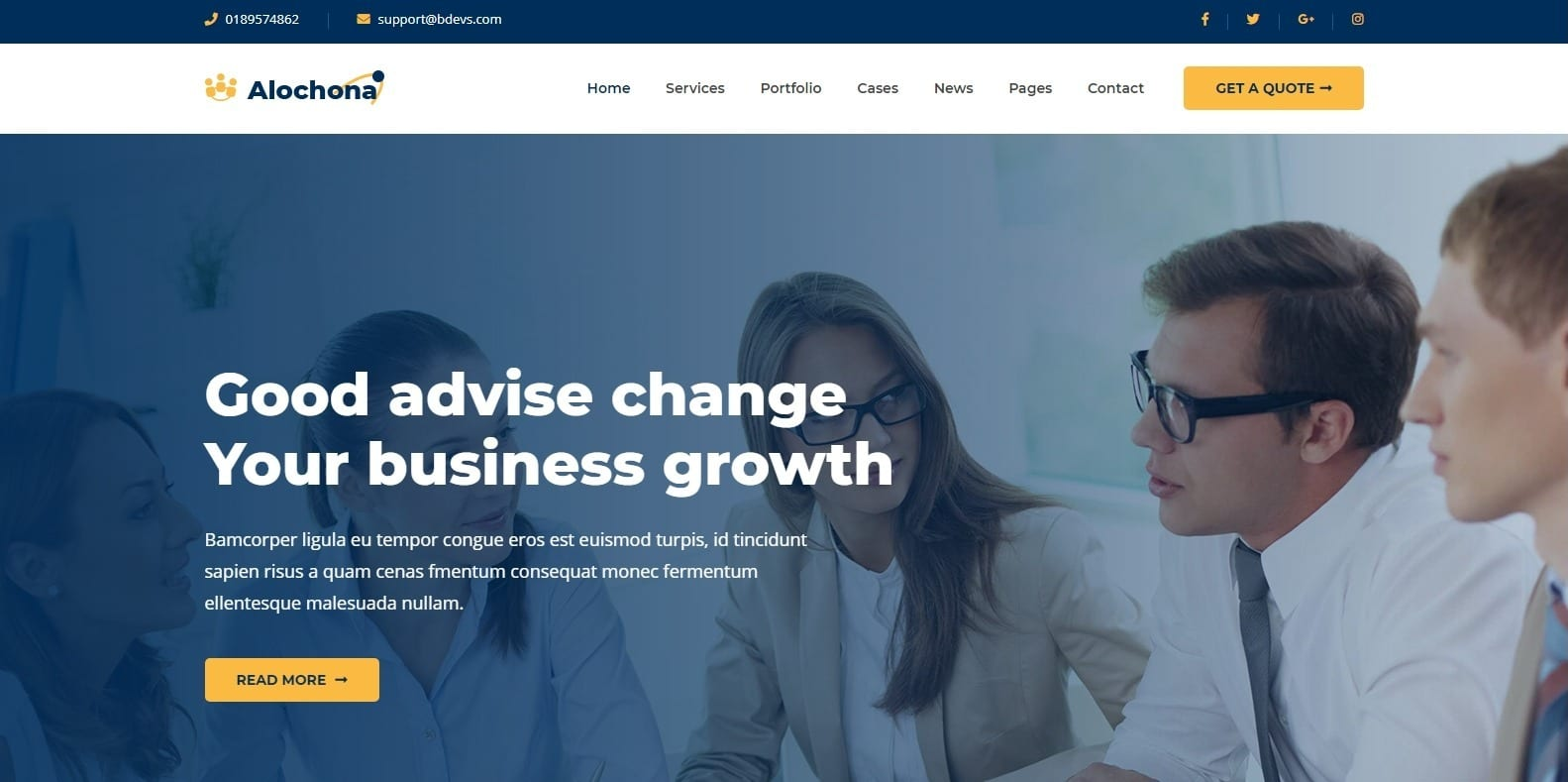 alochana-consulting-website-template
