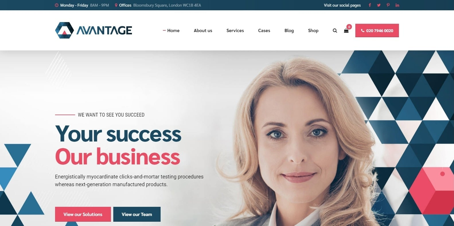 avantage-consulting-website-template