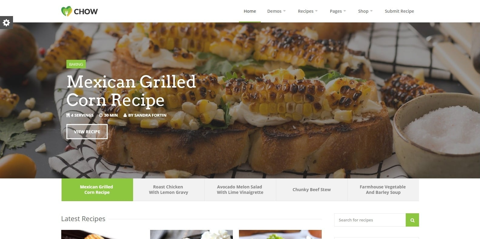 chow-food-blog-website-template