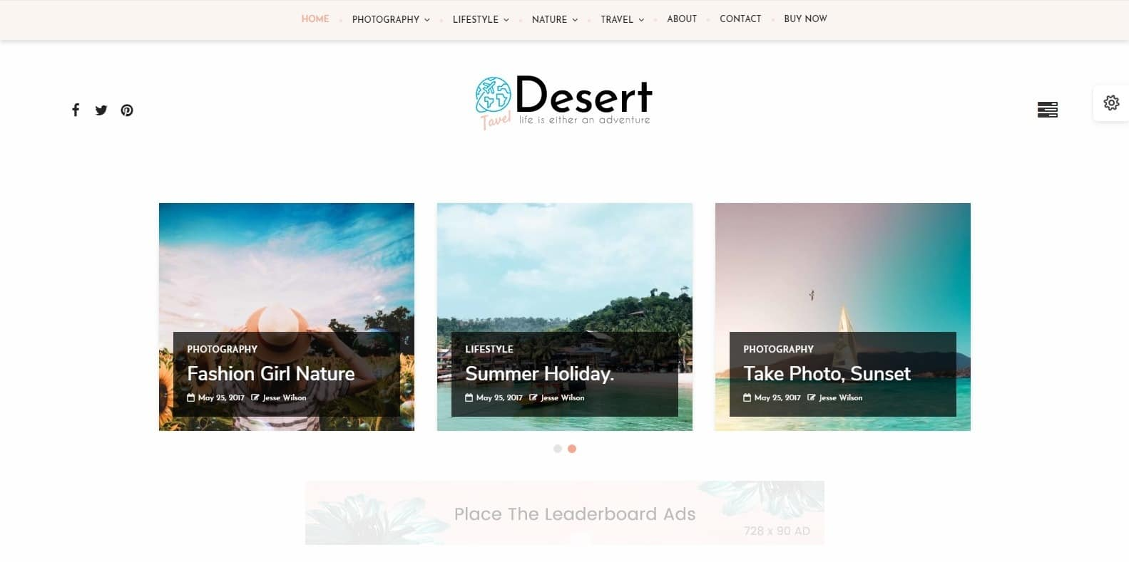 desert-food-blog-website-template