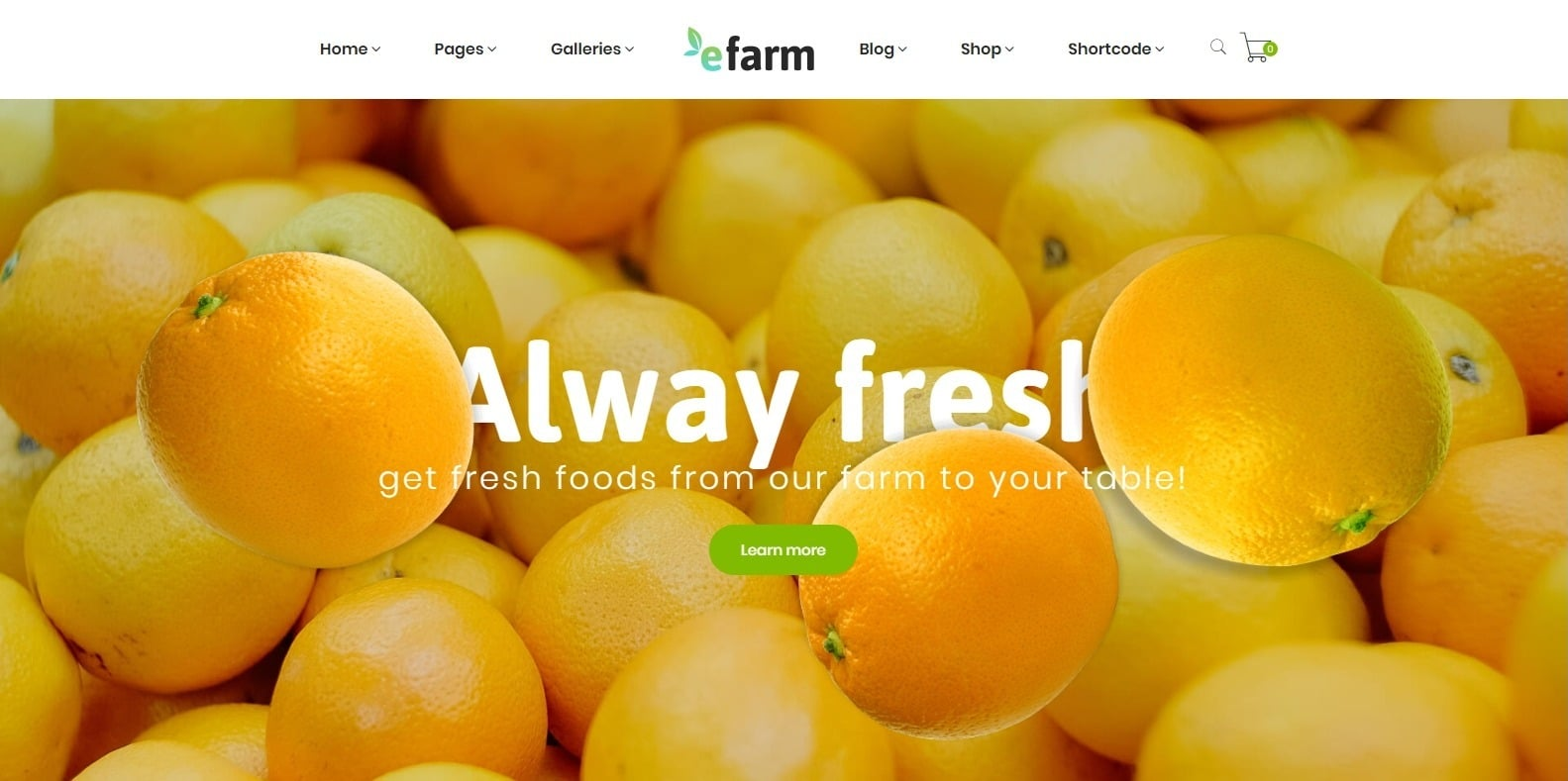 efarm-food-blog-website-template