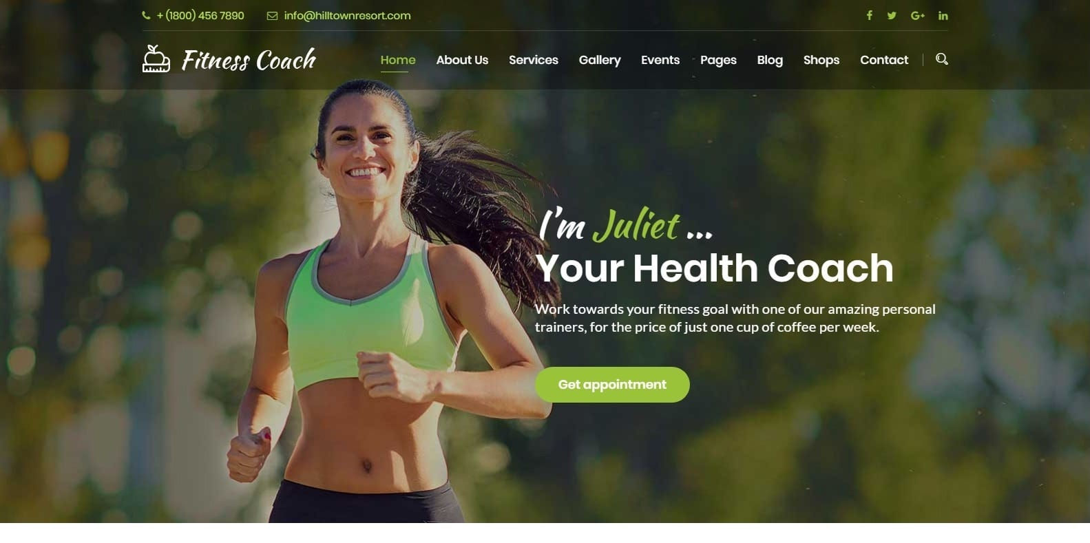 fitness-coach-coaching-website template