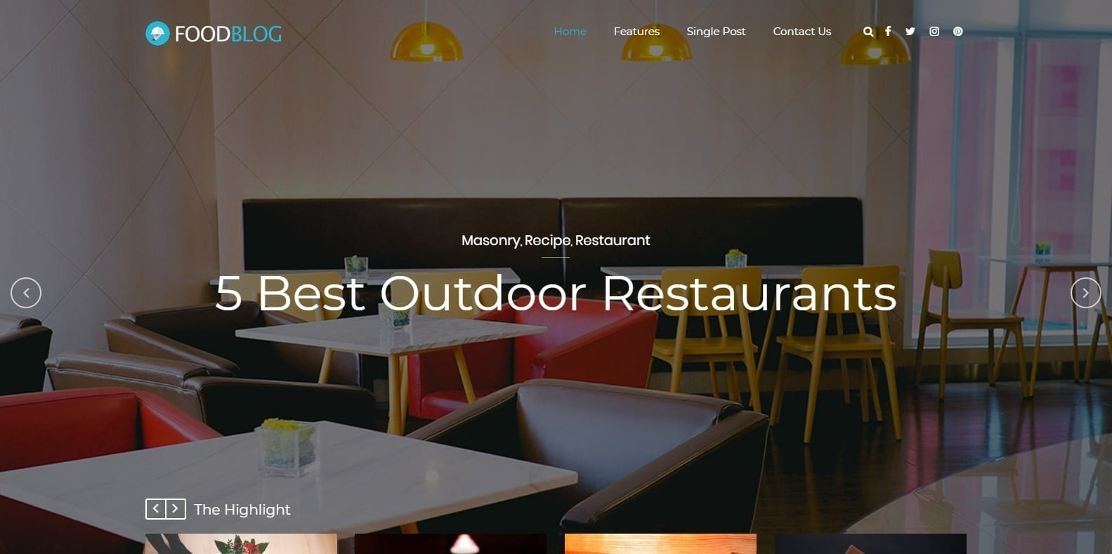 food-blog-website-template