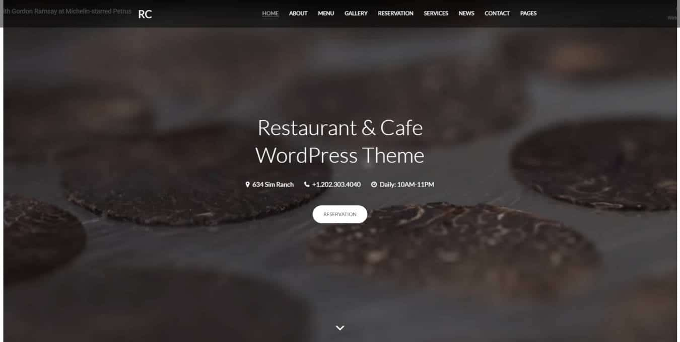 food website templates RC