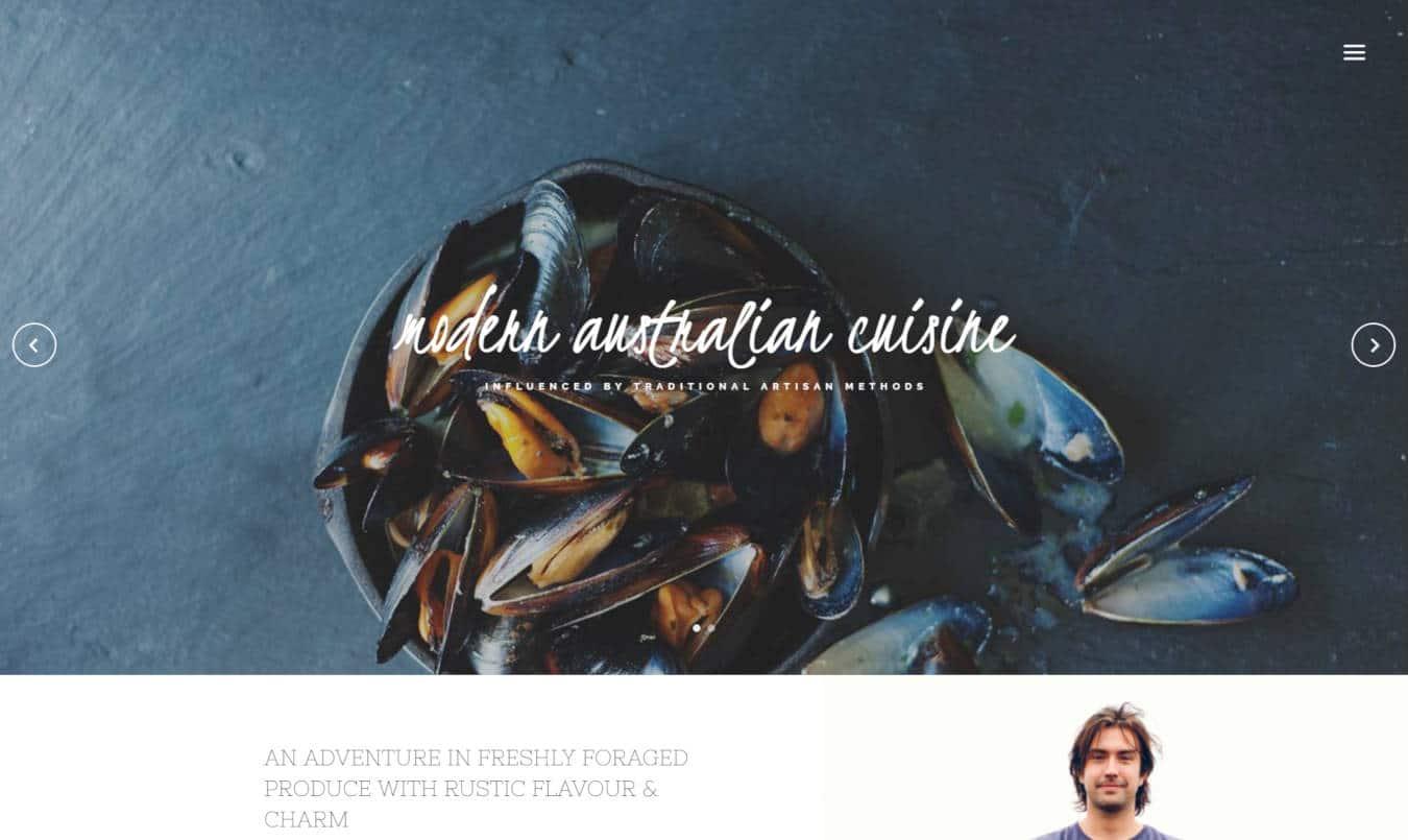 food website templates attica