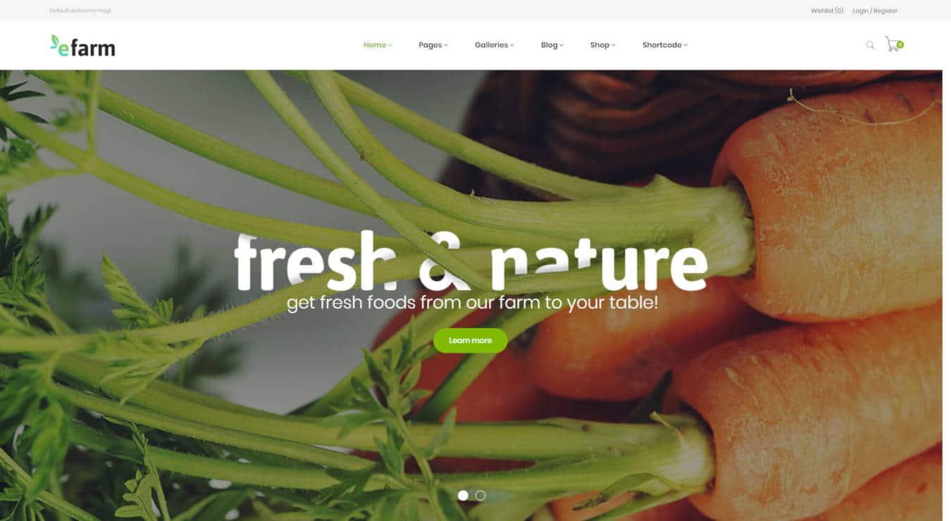 food website templates efarm