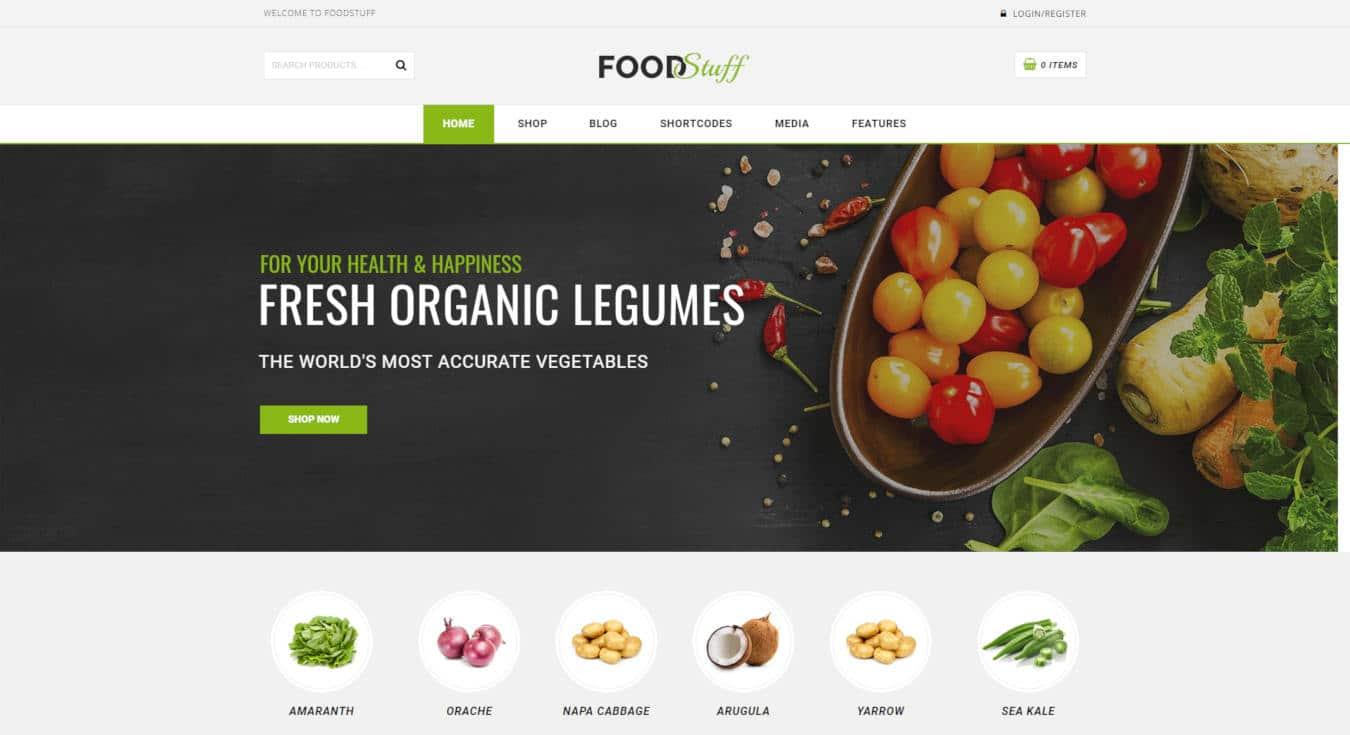 food website templates food stuff