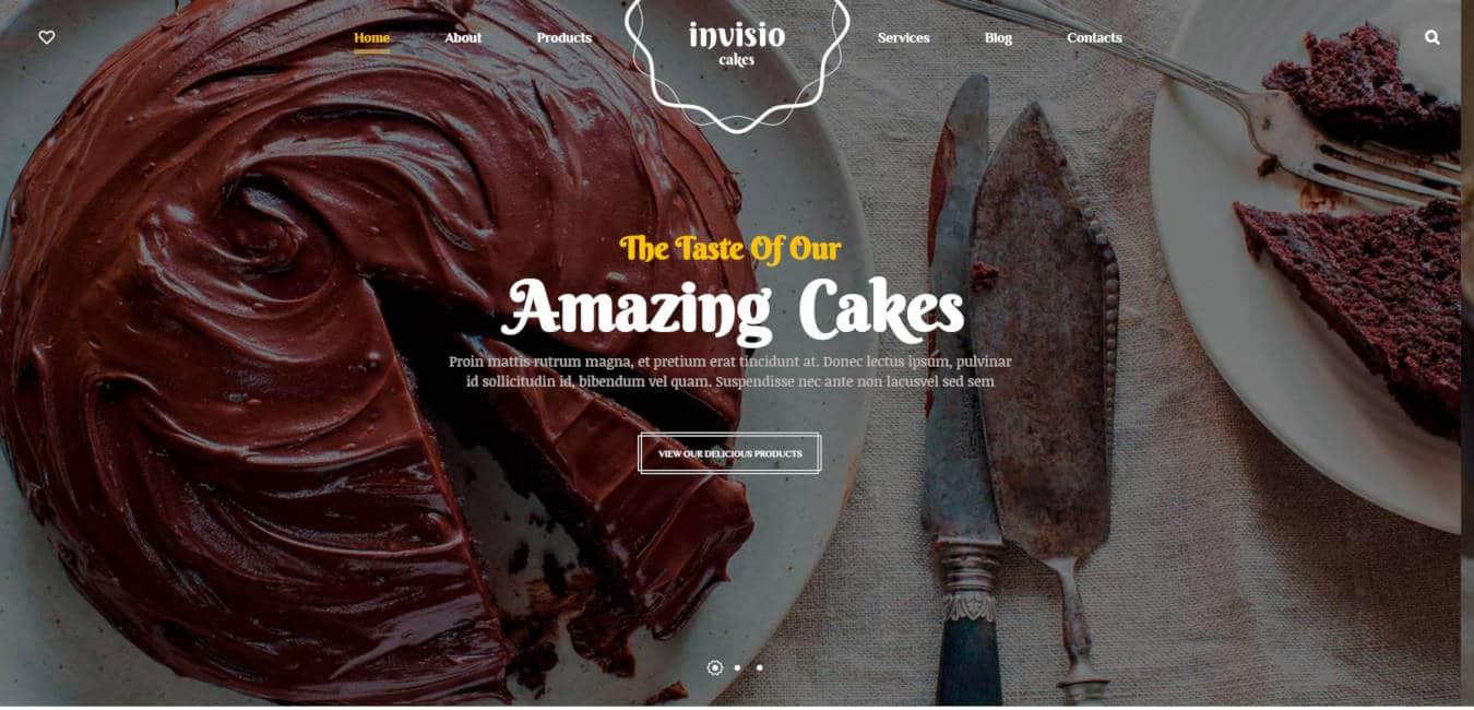 food website templates invisiocakes