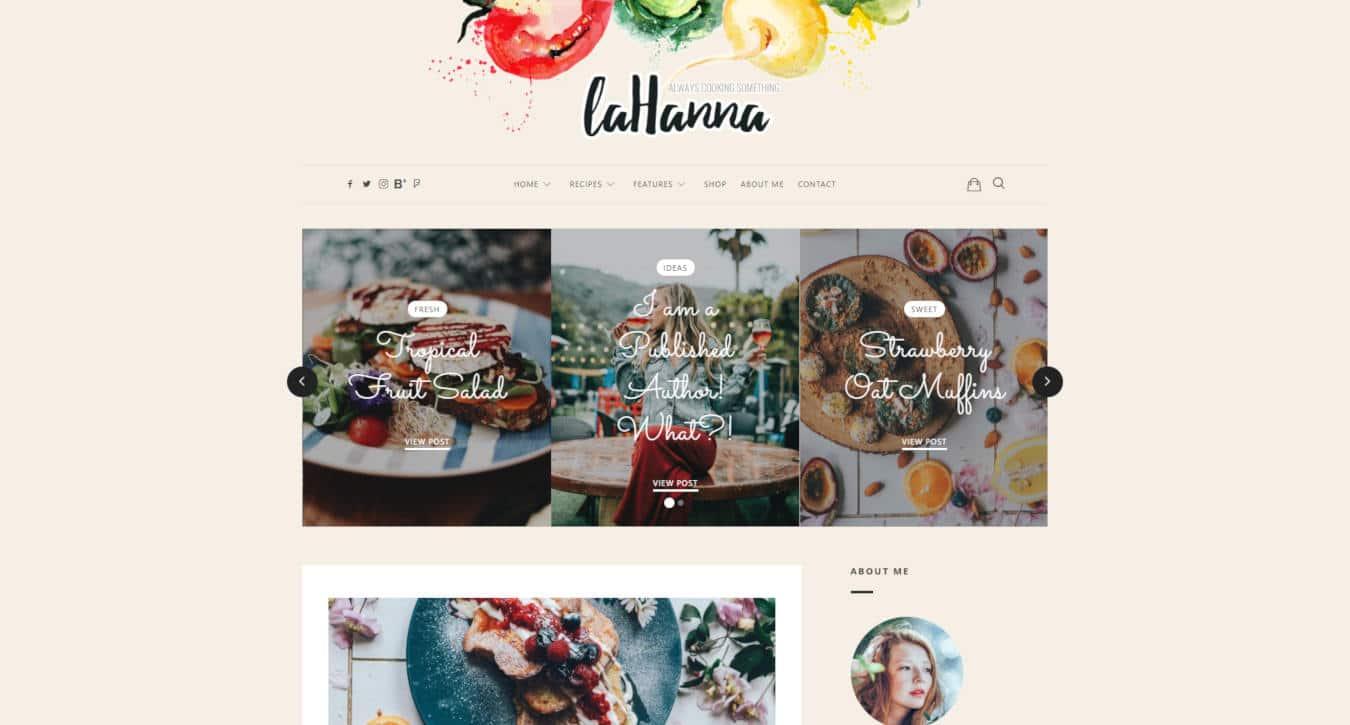 food website templates lahanna