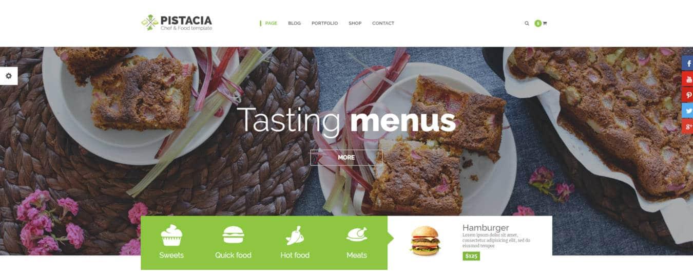 food website templates pistacia