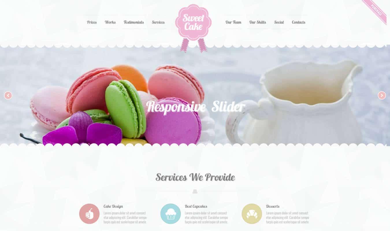 food website templates sweetcake