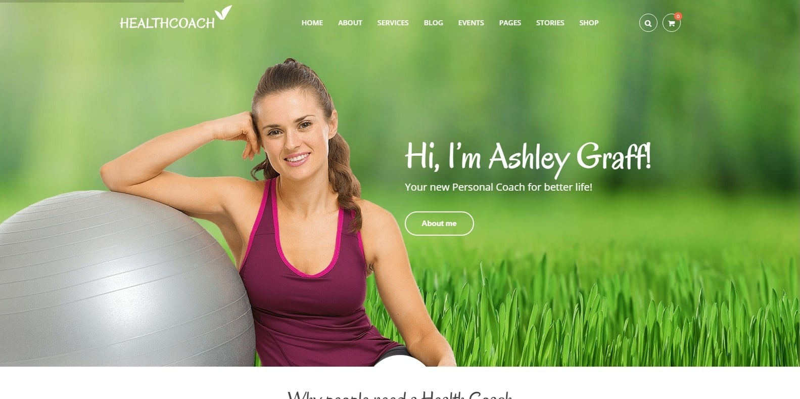 healthcoach-coaching-website template