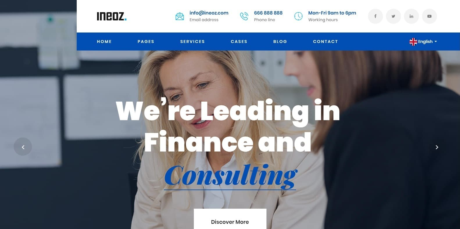 ineoz-consulting-website-template