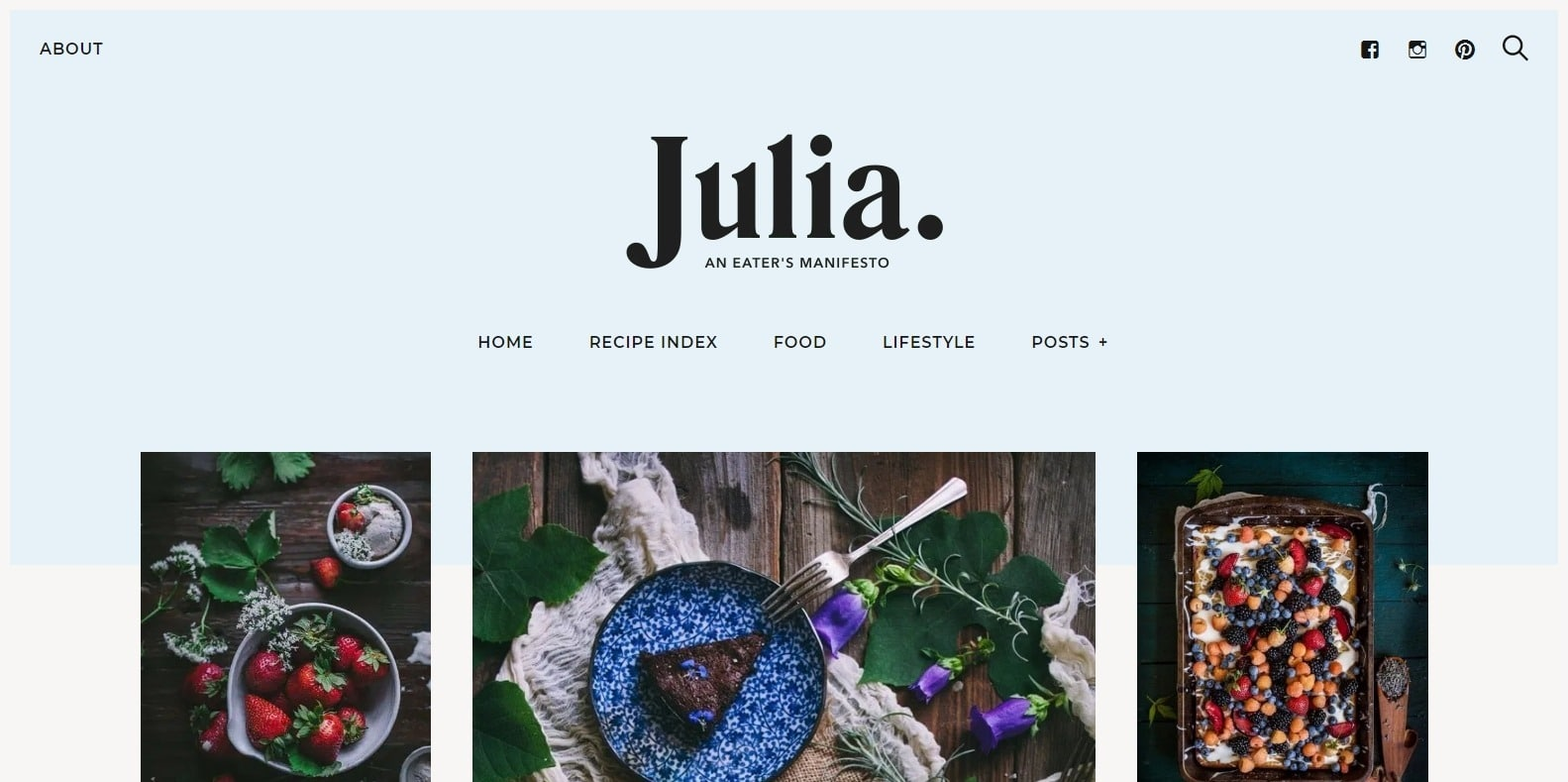 julia-food-blog-website-template-html